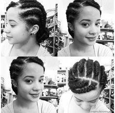 Você pode criar um penteado nagô divididindo o cabelo em mechas e trançando em seguida