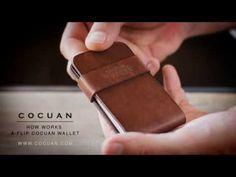 How works a Cocuan flip wallet www.cocuan.com