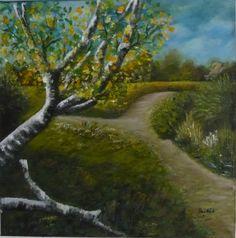 Landscape - created by: (Kovácsné) Szöllős Éva - oil, 30x30 cm canvas
