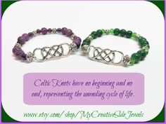 Celtic knot bracelets.  Handmade jewelry.  SHOP:  https://www.etsy.com/shop/MyCreativeSideJewels