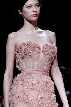Elie Saab Haute Couture Spring 2011: rose bodice detail  #gown #dress #fashion #dream #fairy