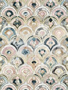Home Decor Tips edhellin: Art Deco Marble Tiles in Soft Pastels by micklyn .Home Decor Tips edhellin: Art Deco Marble Tiles in Soft Pastels by micklyn Art Deco Tiles, Motif Art Deco, Art Deco Print, Tile Art, Art Deco Pattern, Mosaic Art, Mosaic Tiles, Mosaic Floors, Textures Patterns