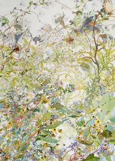 "Late Autumn. Watercolor, 40"" x 30"". 2011."