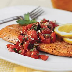 Elegant dinner in 10 min. Pan-Seared Trout With Italian-Style Salsa | Southern Living