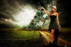 Atelier - Walter Sparr: cyclone- Ladys 15. August, Photoshop, Illustration, Strapless Dress, Dresses, Atelier, October 5, Erotica, Pictures