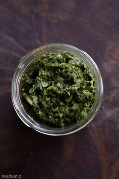 Kale and dried mushroom pesto