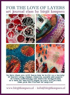 For The Love Of Layers Art Journal Class - Birgit Koopsen