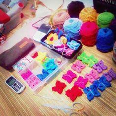 butterflies for order #yarn #crochet #diy #flowerpower