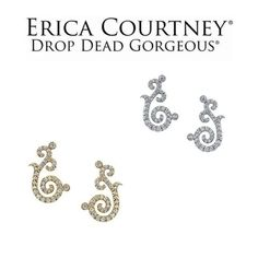 New to Erica Courtney's #DROPDEADGORGEOUSCollection!  Check out these beautiful Angel Wing Earrings available in both platinum and gold!  #EricaCourtney #Platinum#Gold #Diamonds#Luxury#Jewelry#AngelWings#Earrings