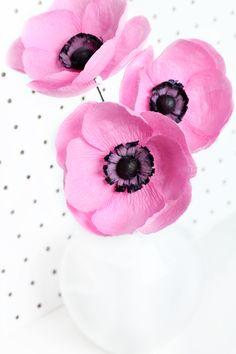 Bubble Gum Pink Paper Anemones