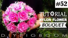 Nylon stocking flowers tutorial #52, How to make nylon stocking flower B...