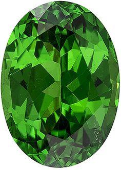 Genuine Green Tsavorite Garnet Loose Gemstone, Oval Cut, 8 x 5.7 mm, 1.38 Carats at BitCoin Gems