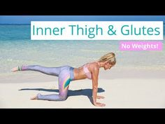 Inner Thigh & Glute Workout - TONE LEGS AND BUTT  Rebecca Louise - YouTube