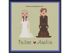 Star Wars The Wedding of Padme Amidala and Anakin Skywalker cross stitch pattern by knottybytes $4