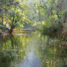 Rex PRESTON - Reflections in the Derwent, Calver, Derbyshire