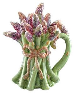 Kaldun  Bogle Tuscan Garden Full Size Asparagus Teapot - something very different -  not commonly found.  I love unique things!