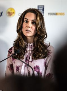 Kate revealed in a speech that she, William and Harry see it as their 'duty to shine a spo...