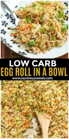 Frugal Food Items - How To Prepare Dinner And Luxuriate In Delightful Meals Without Having Shelling Out A Fortune Low Carb Egg Roll In A Bowl Recipe You Can Use Ground Chicken Or Even Ground Pork Healthy Chicken Recipes, Healthy Dinner Recipes, Low Carb Recipes, Diet Recipes, Cooking Recipes, Recipes With Ground Chicken, Cheap Recipes, Shake Recipes, Shrimp Recipes