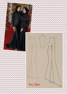 Elegant black dress pattern
