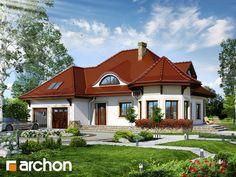 Projekt domu Dom pod juką 2 - ARCHON+ Minimalist Home, Modern House Design, House Floor Plans, Home Fashion, My Dream, Cabin, Flooring, Mansions, House Styles