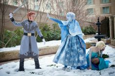 Frozen cosplay. Amazing!