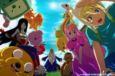 Flame Princess Lumpy Space Princess Ice King Marceline the vampire queen Cartoon Network Princess Bubblegum Jake the Dog Adventure Time Finn the Human Slime Princess Adventure Time Princesses, Adventure Time Finn, Adventure Time Wallpaper, Lumpy Space Princess, Flame Princess, Avengers, Vampire Queen, Disney Sketches, Cartoon Gifs