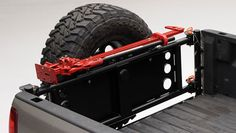 Wilco Tiregate® Vertical Mount (VT) replaces the factory tailgate to carry an over size spare tire vertically over the rear bumper. It opens wide to allow full use of the cargo bed–perfect for camp… Truck Bed Bar, Truck Bed Camping, Truck Tailgate, Hummer Truck, Jeep Truck, Gmc Trucks, Pickup Trucks, Silverado Accessories, Truck Bed Accessories