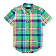 Cotton-Blend Madras Shirt - Boys 2-7 Sport Shirts - RalphLauren.com
