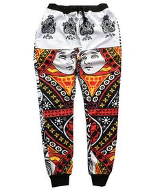 c246bc9485d01f Queen Card Joggers Boys Jogger Pants
