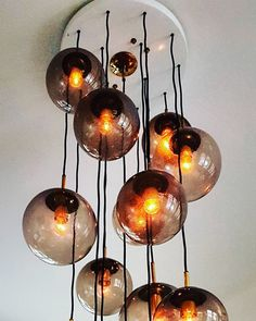 image Big Chandelier, Pink Lamp, Vintage Lamps, Glass Globe, Vintage Colors, Lamp Design, Pendant Lamp, Pink Color, Etsy Shop