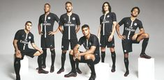 PSG have unveiled their stunning new line of kits and clothing in collaboration with Jordan. The strip to be worn in the Champions League features the iconic logo of Michael Jordan. Paris Saint Germain Fc, Christina Milian, La Champions League, Logo Nike, Classic Football Shirts, Soccer Kits, Football Soccer, Football Players, Football Outfits