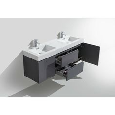 Fortune Wall Mounted Vanity with Reinforced Acrylic Sink. Shop Wall Mounted Vanities for a Modern and Minimal Bathroom Design. Modern Bathroom Cabinets, Minimal Bathroom, Modern Bathroom Design, Single Sink Vanity, Vanity Sink, Bath Vanities, Mirror Backsplash, Cabinets For Sale, Luxury Homes Dream Houses
