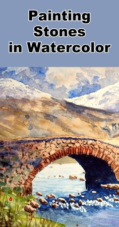 Learn how to paint a rock and stone effect in this free watercolor landscape painting tutorial