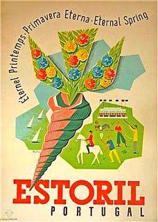 eternal spring estoril portugal Via… Vintage Advertising Posters, Vintage Travel Posters, Vintage Advertisements, Vintage Ads, Tourism Poster, Poster S, Party Vintage, Beach Posters, Portugal Travel