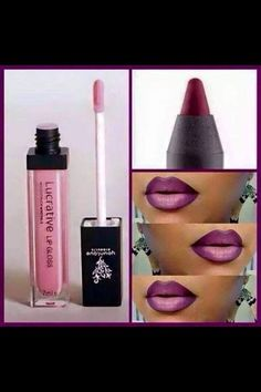 """Ombre lips are in! This look was achieved with younique's """"pompous"""" lip liner, and our """"loveable"""" lucrative lip gloss! Try it out with our love it or get your money back guarantee! Link to order is in comments. Lipstick Colors, Lip Colors, 24 Hour Lipstick, Lucrative Lip Gloss, 3d Fiber Mascara, 3d Mascara, Learn Makeup, Lipgloss, Lip Kit"""