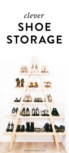 Uma ideia super diferente para organizar os sapatos! ;)
