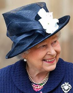 Wow! You don't see Her Majesty in dark blue often but this stands out.