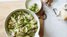 Broccoli and Brussels Sprouts Slaw Recipe | Bon Appetit
