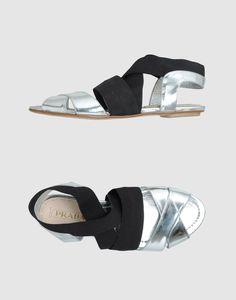 metallic prada sandals