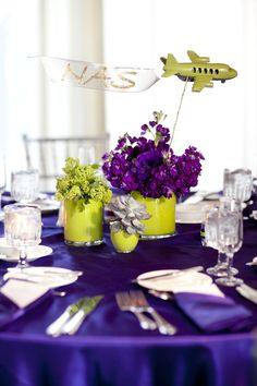 Travel themed wedding - each table represented a different airport the couple had traveled to.