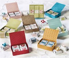 "Hershey wrappers using ""It's a Wrap Occasions"" stamp set by Stampin' Up!"