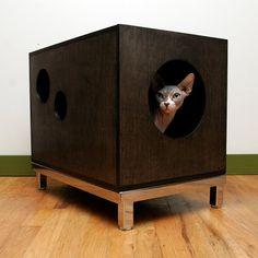Modern Cat House hide'n'seek dual-purpose modern cat cube from julinka | cat cube