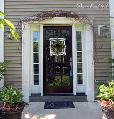 Down to Earth Style: {Entry Wreath Frame}