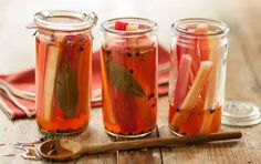 Rhubarb Pickles!  These crisp and tangy pickles are a great accompaniment to sharp cheeses and charcuterie, or use them as swizzle sticks for cocktails or seltzer. You can also dice them for an easy salsa for grilled chicken or pork.