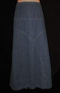 Christopher Banks size 16 Skirt Long Denim Jean Straight Ankle Modest #ChristopherBanks #StraightPencil