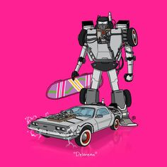 Iconic Cars From Your Favorite Movies, Reimagined as Transformers | The DeLorean from Back to the Future