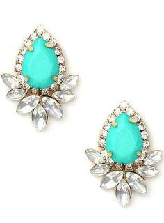Mint Crystal Earrings <3