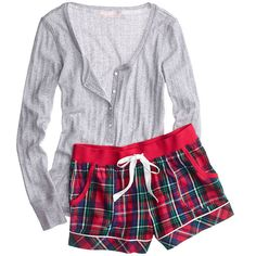 Victoria's Secret Dreamer Flannel Boxer PJ ($45) ❤ liked on Polyvore featuring intimates, sleepwear, pajamas, long sleeve pajamas, long sleeve sleepwear, flannel pjs, pink pjs y flannel boxers