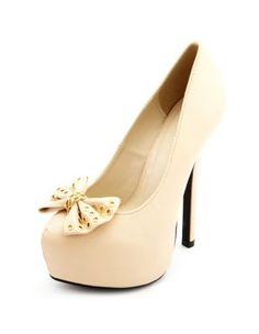 chained bow-front platform pump .... SUPER CUTE!!! They will defiantly be my next purchase
