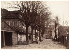 Another almost rural street scene from Hamburg dated 1882.  #Germany #Hamburg